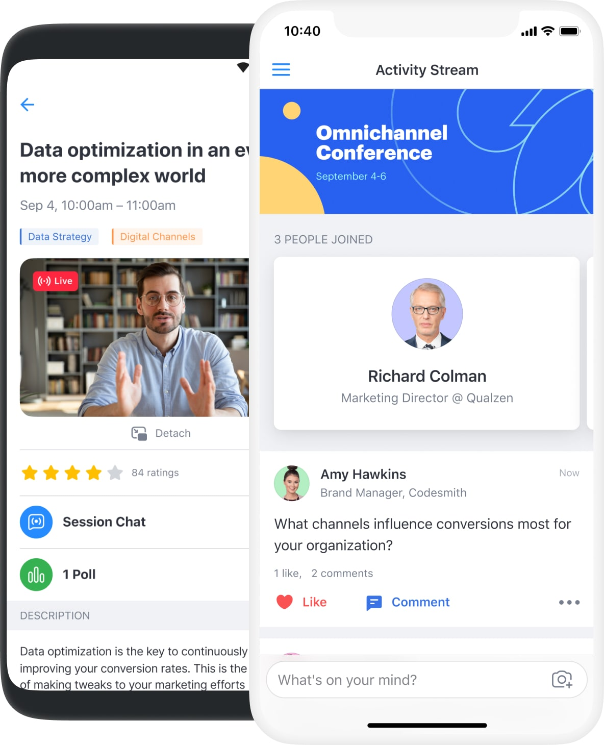 Attendify's mobile event apps connect your entire virtual community from anywhere