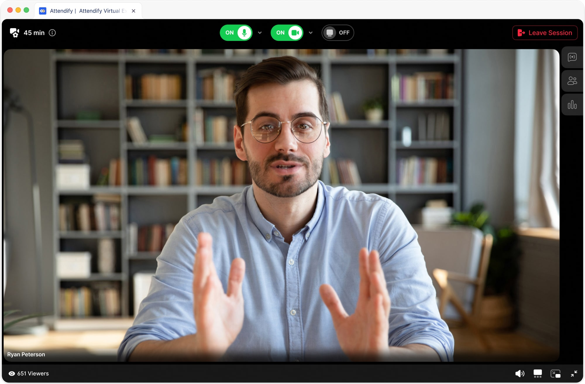 Attendify provides native live streaming and integrated streaming options for virtual events