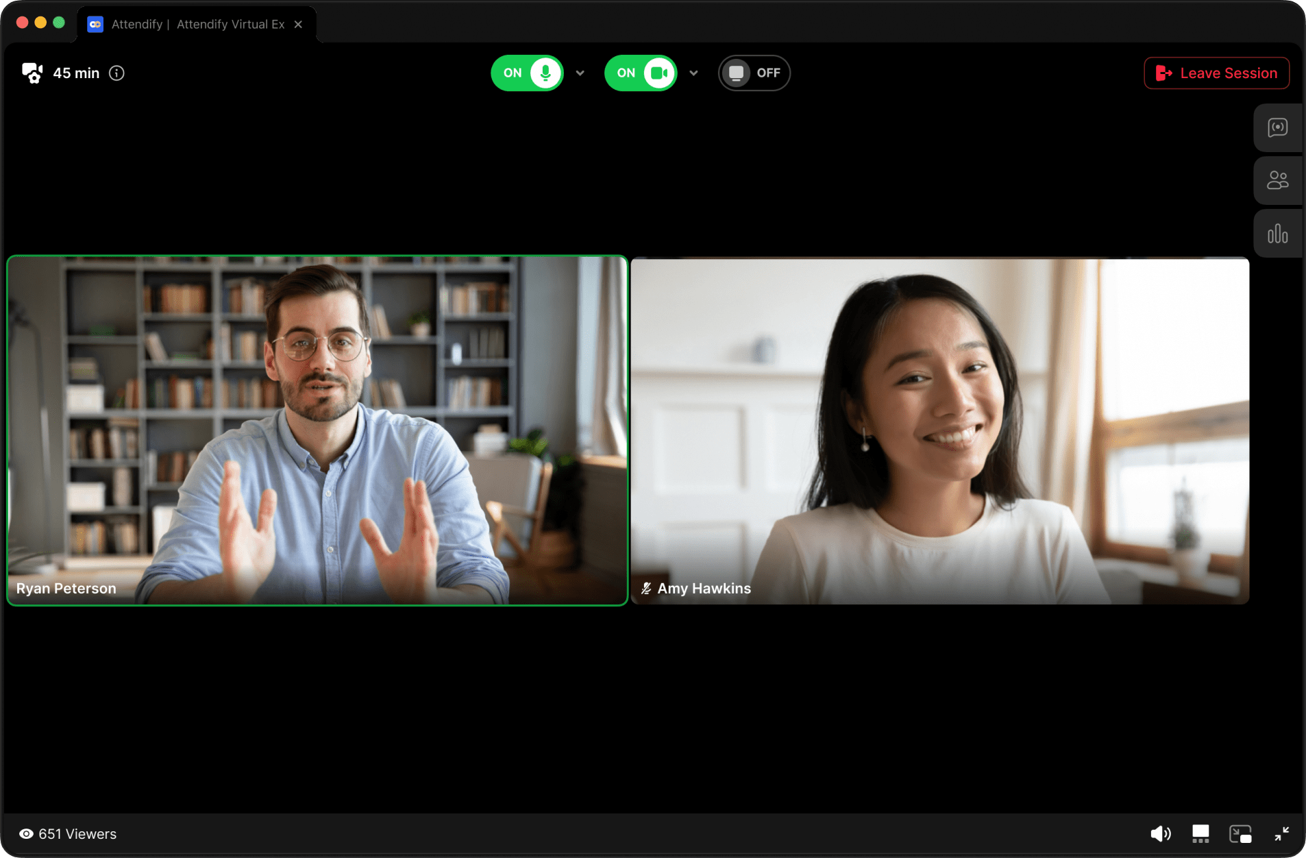 Attendify's native live steaming and streaming options for virtual events