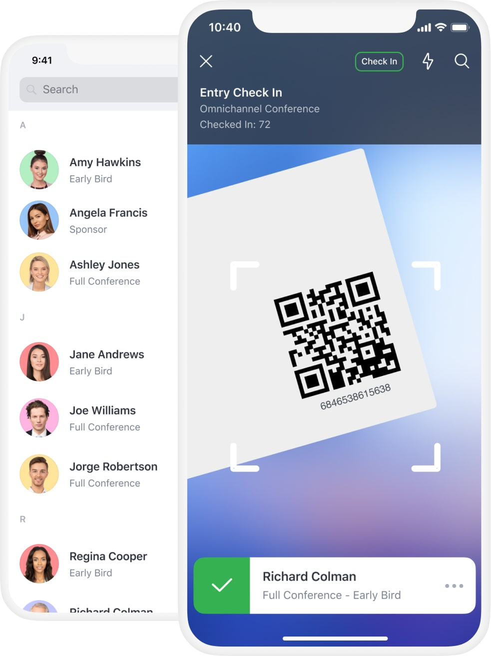 Check-in apps are free with Attendify's event registration software