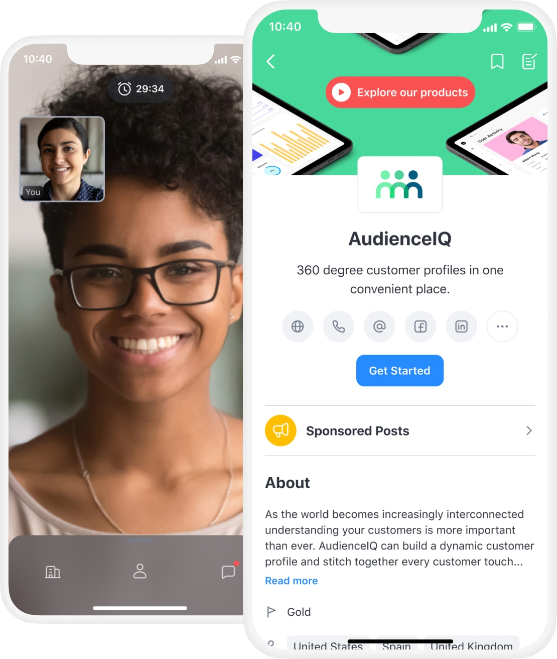 Attendify's mobile app for event sponsors with live video conferencing & virtual meetings