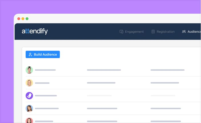 Capture attendee datapoints with Attendify's event tracking and built-in event database