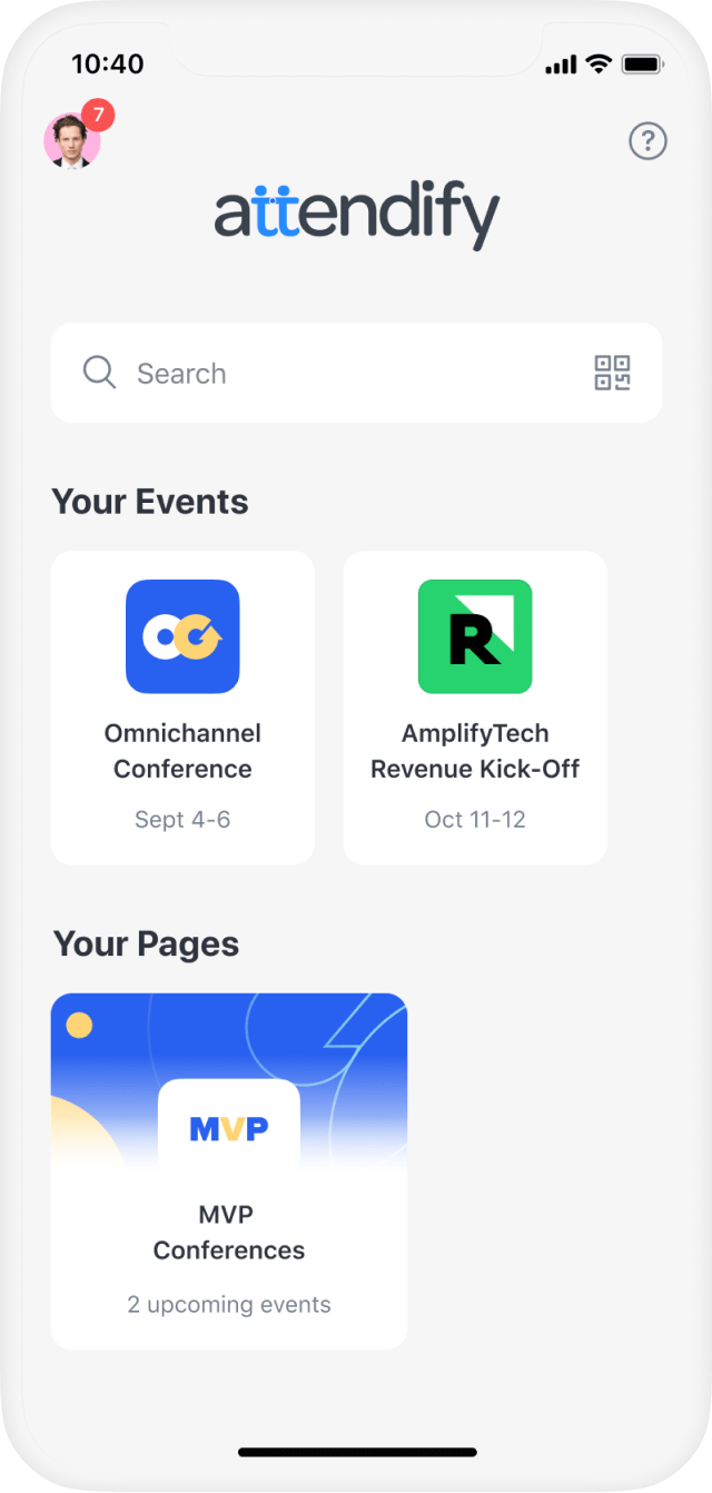 Mobile app for hybrid events