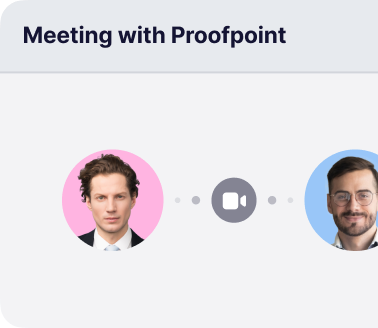 Attendees can connect with sponsors in private video meetings with Attendify's virtual events