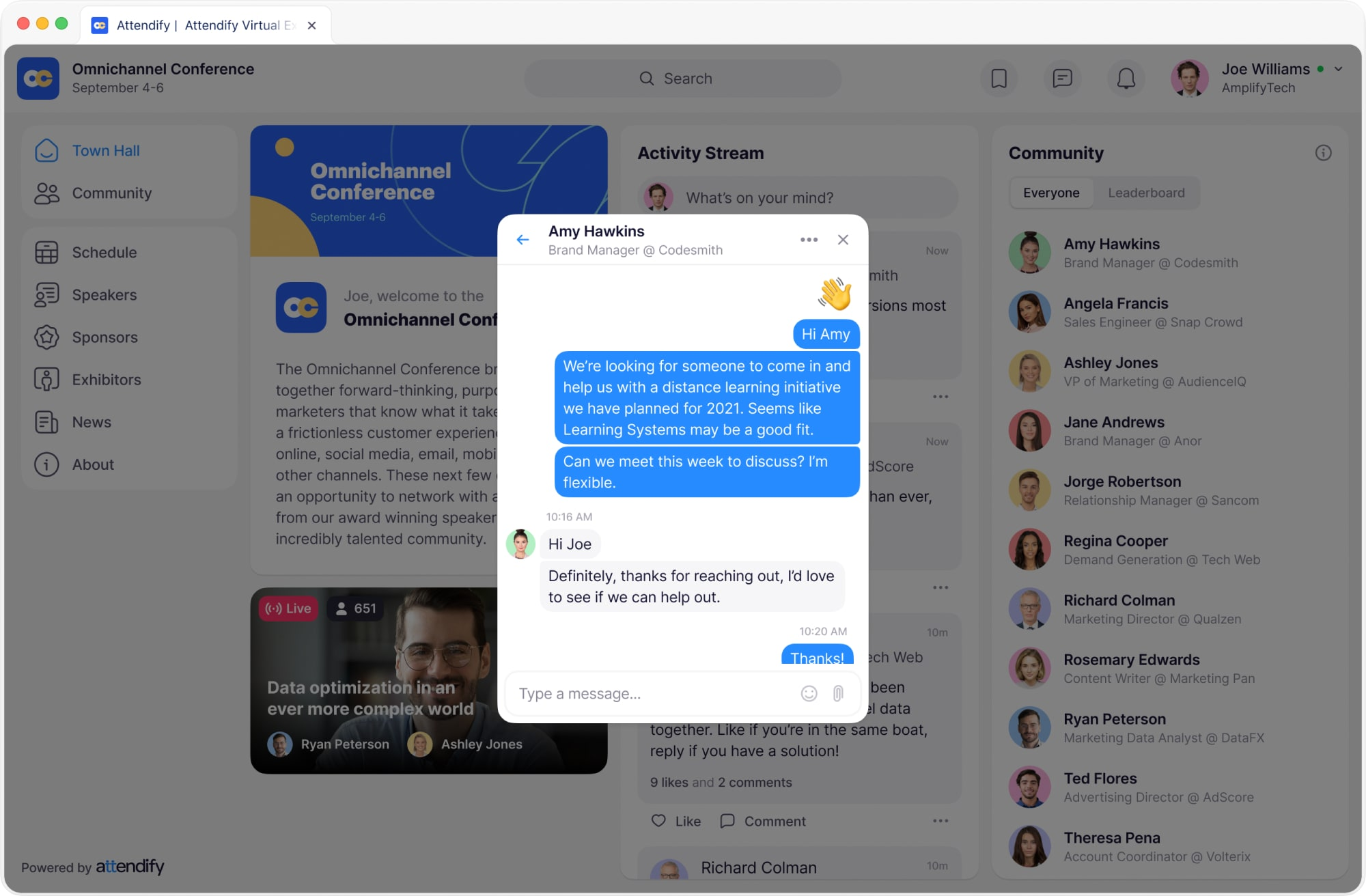Keep your event community connected and informed with Attendify's mobile and online event platform