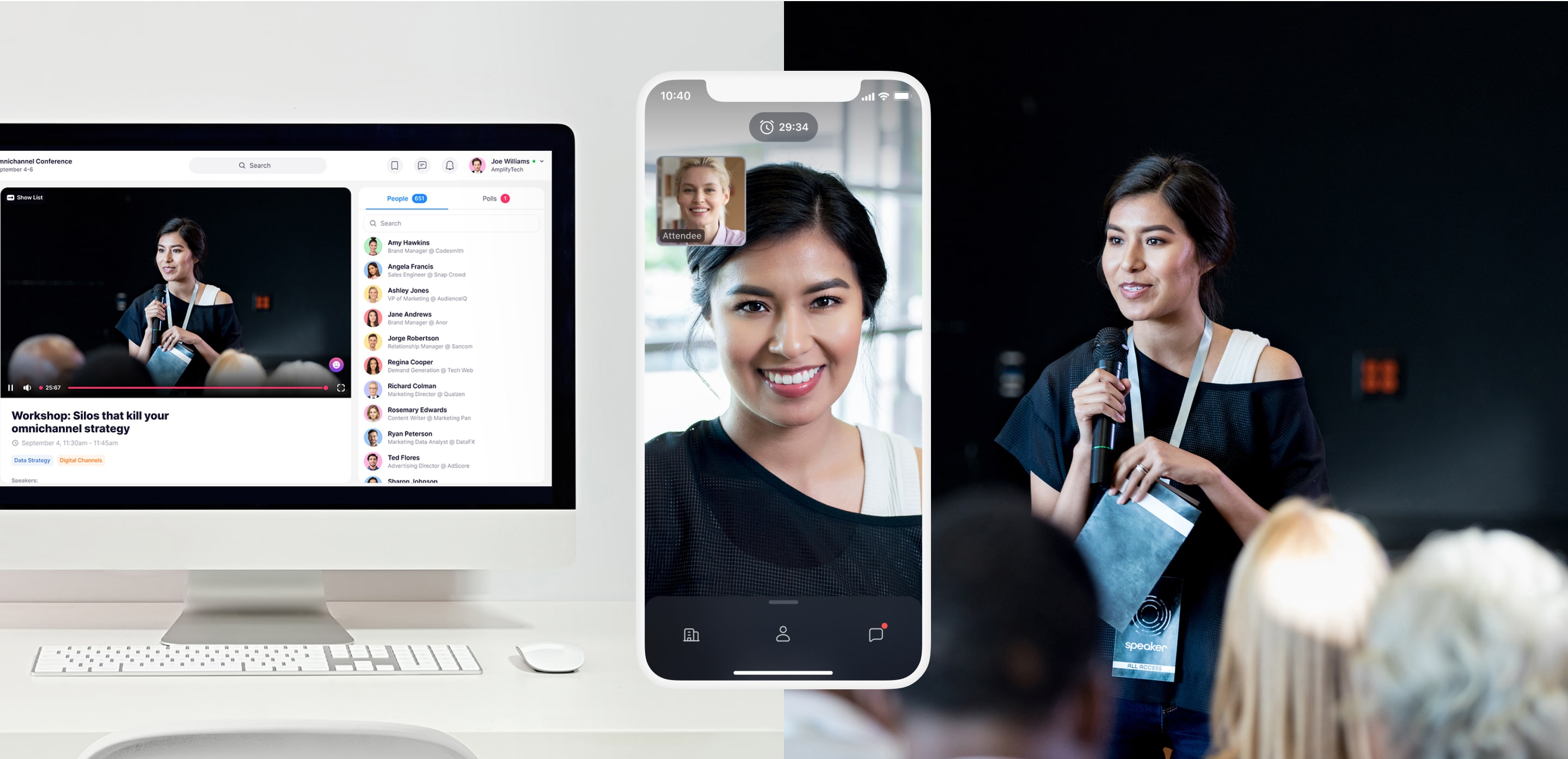 Attendify's mobile and online event platform is the solution for connecting in-person and virtual event audiences