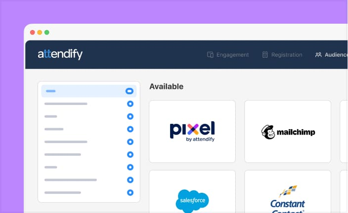Create look-a-like audiences using Attendify's data platform integrations with marketing systems